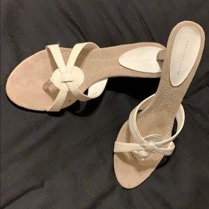 Predictions Sz 8 1/2 white heels LIKE NEW